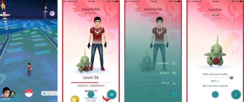 Walk Pokémon Buddy to earn Pokémon Candy