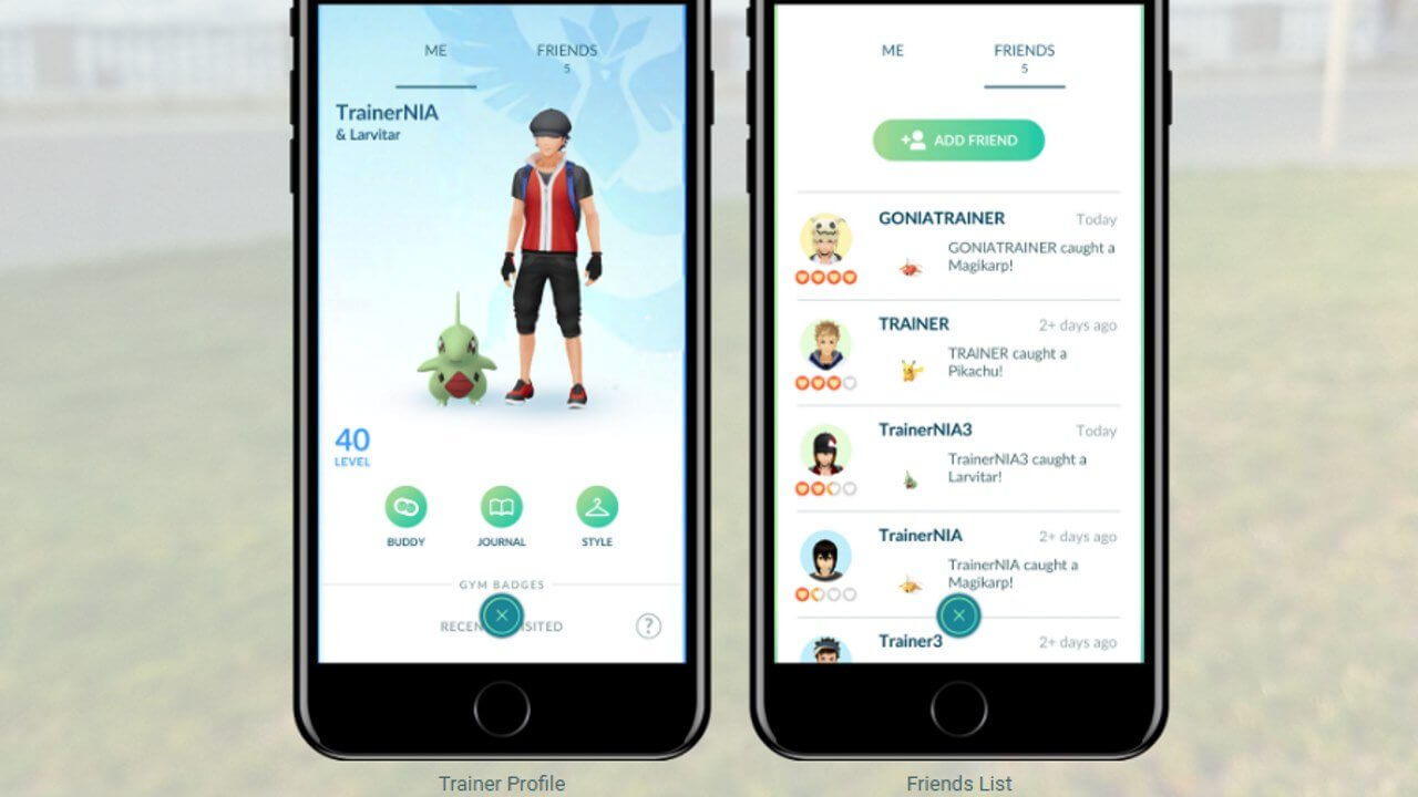 Adding Pokémon Go Friends