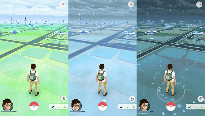 pokemon go interface home