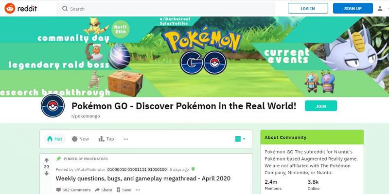 pokemon go sub reddit