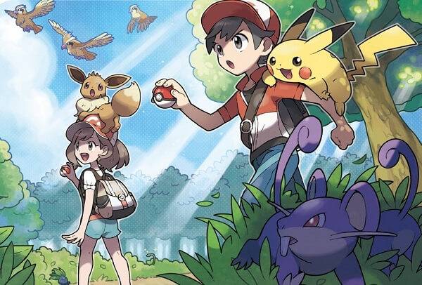 pokemon lets go eevee pikachu
