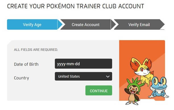 pokemon trainer club account