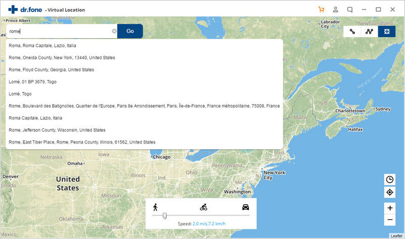 search virtual location