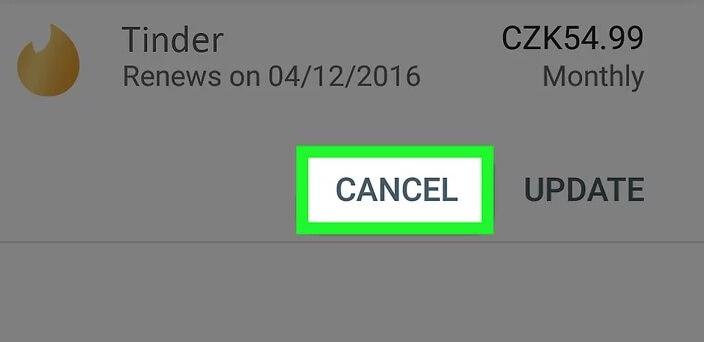 tinder cancel