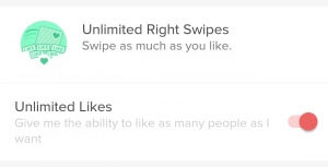unlimited right swipes