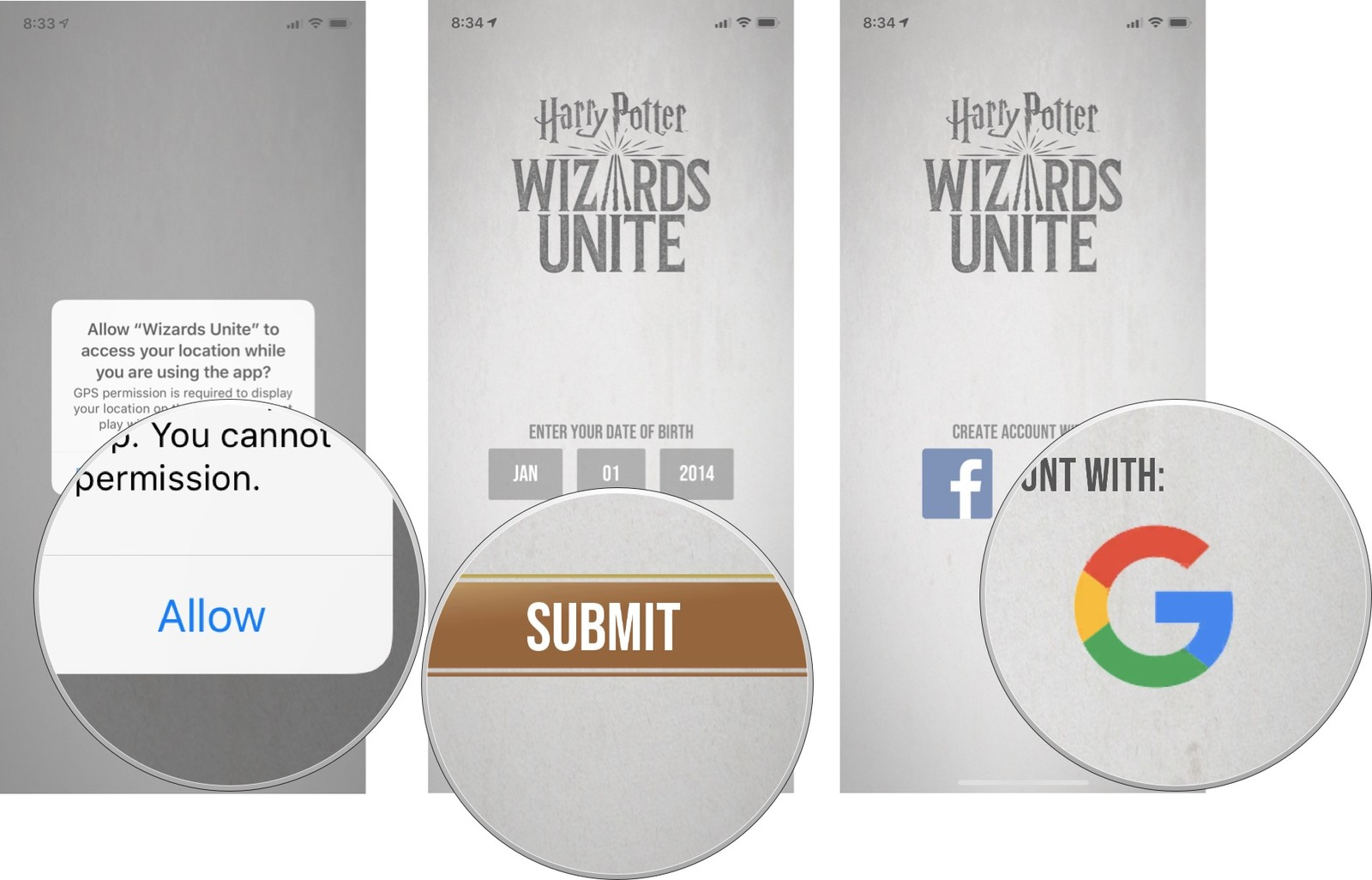 sign out harry potter app